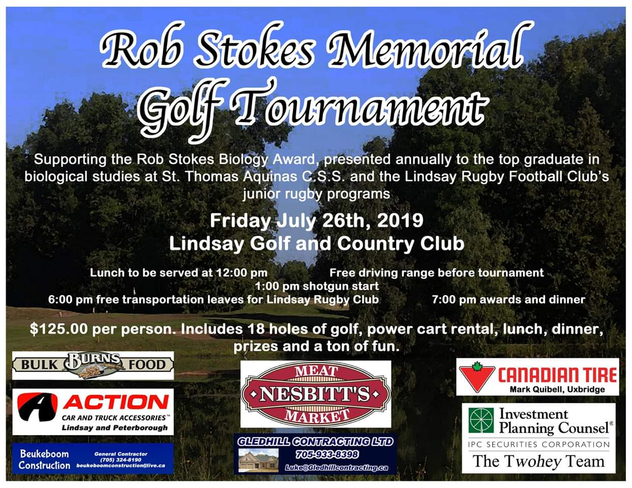 Rob Stokes Memorial Golf Tournament