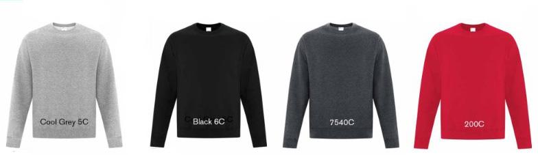 Sweatshirt colours